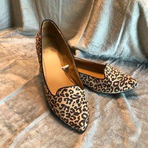 Merona Leopard Print Pointy Toe Flats Size 10